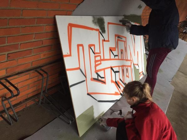 Graffiti kunst workshop Bjerregrav friskole